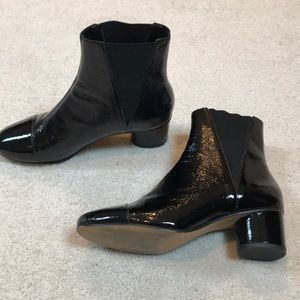 Rebecca Minkoff patent leather booties